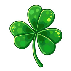 Detailed Icon. Lucky Clover isolated on white background