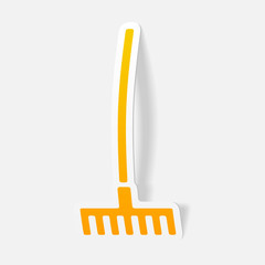 realistic design element: rake