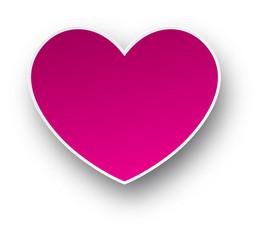 Paper pink heart.