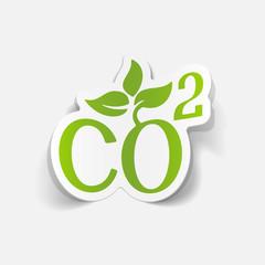 realistic design element: co2 sign dioxide