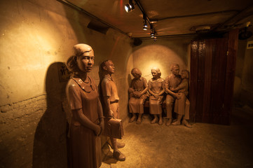 World War 2 bunker, The historic place in Dusit zoo, Bangkok, Th
