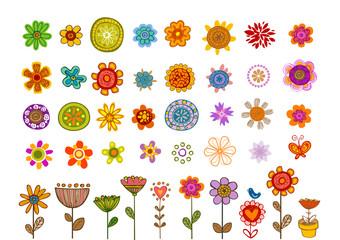 Flowers vector.