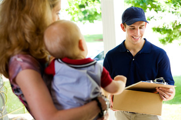 Delivery: Deliveryman Checking Name on List