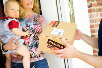 Delivery: Man Delivers Fragile Package