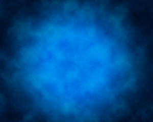Smoke over blue background