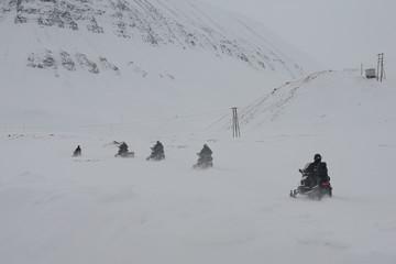 Schneemobil Spitzbergen
