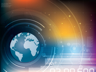abstract background technology world map