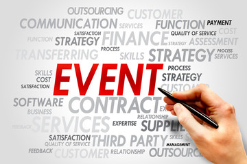 EVENT word cloud, business concept
