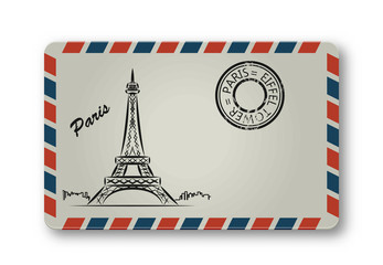 Letter from Paris with the Eiffel Tower