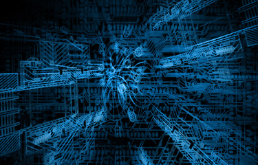 Abstract blue background. Technology background, from series bes