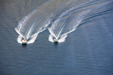 Two speedboats
