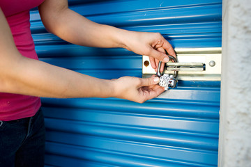 Storage: Add Lock to Unit Door Wall mural