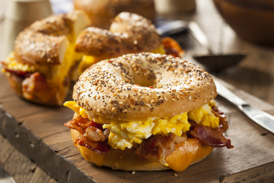 Hearty Breakfast Sandwich on a Bagel