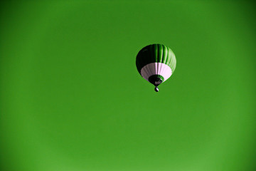 balloon on a green background