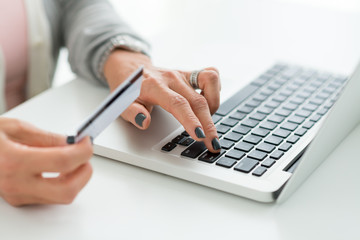 Inputting credit card information