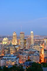 Fototapete - Montreal at dusk