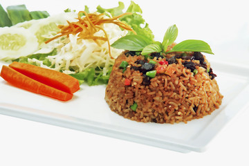 fried rice with chili and beef