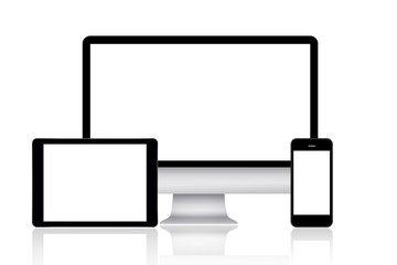 Computer monitor, tablet and smartphone