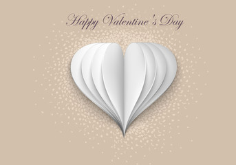 Paper Hearts on Valentine Day