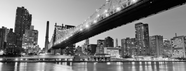 Fotomurales - New York City night panorama