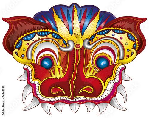 Dragon chinois t te masque illustration photo libre de - Photo de dragon chinois ...