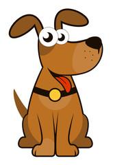 isolated cartoon dog