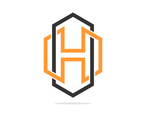 H Logo Hexagon