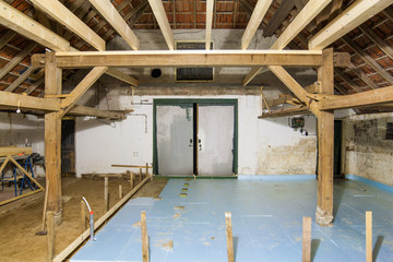 Home renovation - applying floor insulation