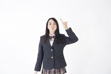 コピースペース 制服女子学生