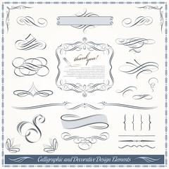 Calligraphic and Decorative Design Elements