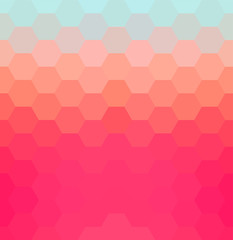 Abstract hexagon background. Colorful geometric background.