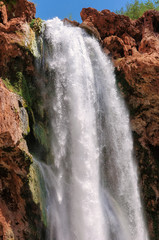 Falls in rocks , Havasu Falls, Grand Canyon, Arizona, USA