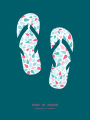 Vector abstract colorful drops flip flops silhouettes pattern