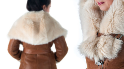 Details of women's winter clothing