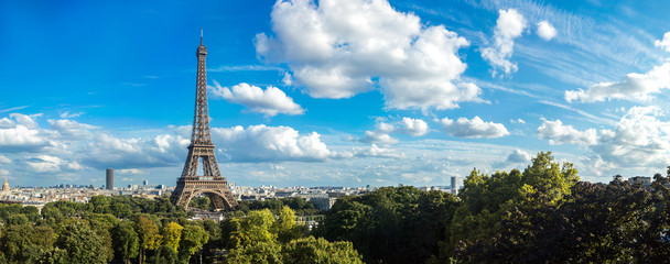 Photo sur cadre textile Paris Eiffel Tower in Paris, France