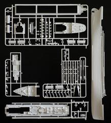 Kit assembling plastic model backgrounds