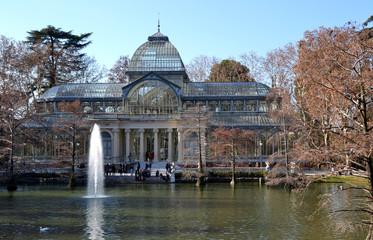 Crystal Palace in El Retiro Park in Madrid, Spain
