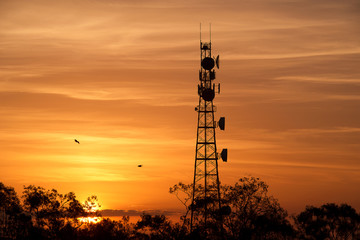 Radio tower in the afternoon at Redbank Plains, Brisbane.