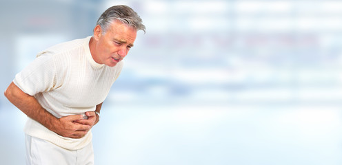Man having a stomach ache