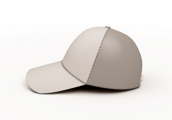White baseball cap template side view