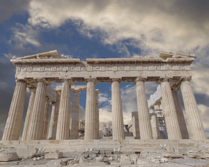 Parthenon ancient temple on Athenian Acropolis, Greece
