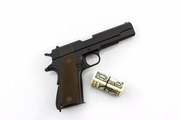 Money with Gun .
