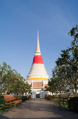 Beautiful pagoda and flowers