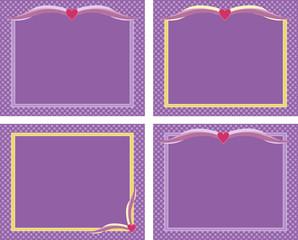 Purple frames