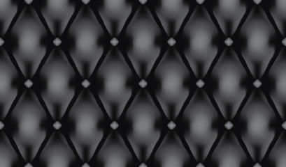 Black luxury quiltn vector seamless pattern