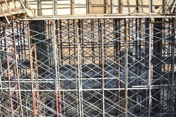 Metal scaffoldings used to support floor slab formwork