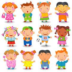Cartoon children.