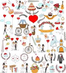Каракули Свадебный комплект для пригласительных билетов