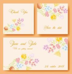 Цветочные баннеры для свадебного приглашения