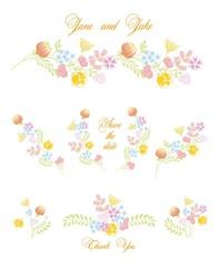 Цветочные векторные элементы шаблон для свадебные приглашения